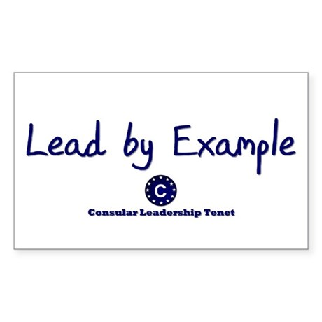 DP-Lead by Example Rectangle Sticker 10 pk)