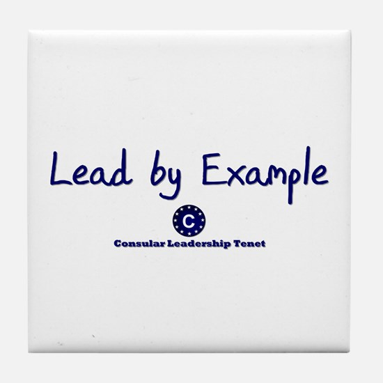 DP-Lead by Example Tile Coaster