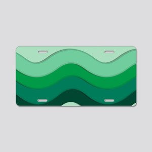 Green Waves Aluminum License Plate