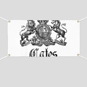 Cates Vintage Last Name Crest Banner