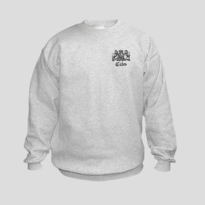 Cates Vintage Last Name Crest Kids Sweatshirt