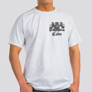 Cates Vintage Last Name Crest Light T-Shirt