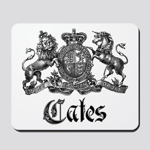 Cates Vintage Last Name Crest Mousepad