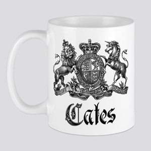 Cates Vintage Last Name Crest Mug