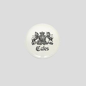 Cates Vintage Last Name Crest Mini Button