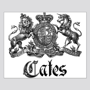 Cates Vintage Last Name Crest Small Poster