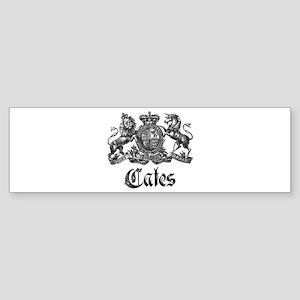 Cates Vintage Last Name Crest Bumper Sticker