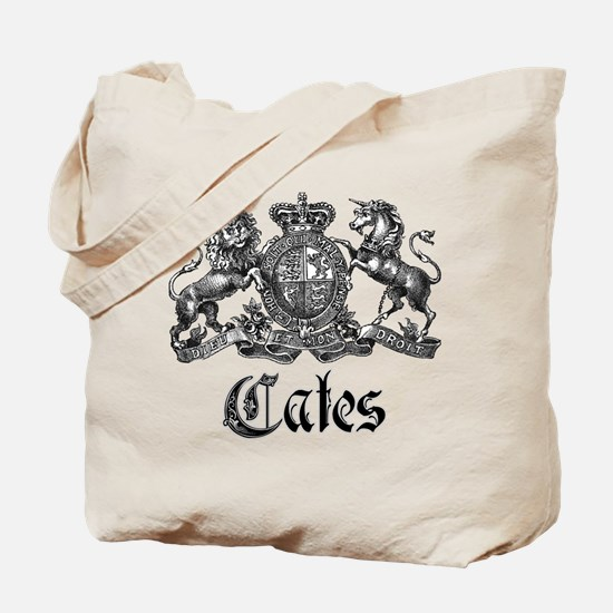 Cates Vintage Last Name Crest Tote Bag