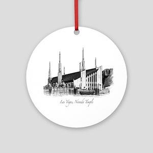 Las Vegas, Nevada Temple Ornament (Round)