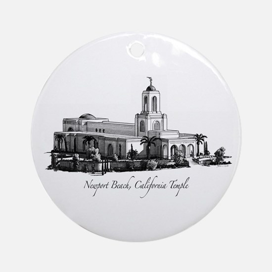 Newport Beach, California Tem Ornament (Round)