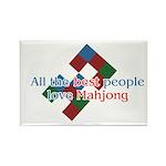 Mahjong Rectangle Magnet (10 pack)