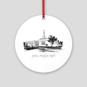 Spokane, Washington Temple 2 Ornament (Round)