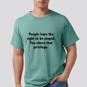 You Abuse That Privilege White T-Shirt