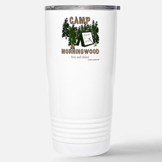 Camp Morning Wood Adult Stainless Steel Travel Mug