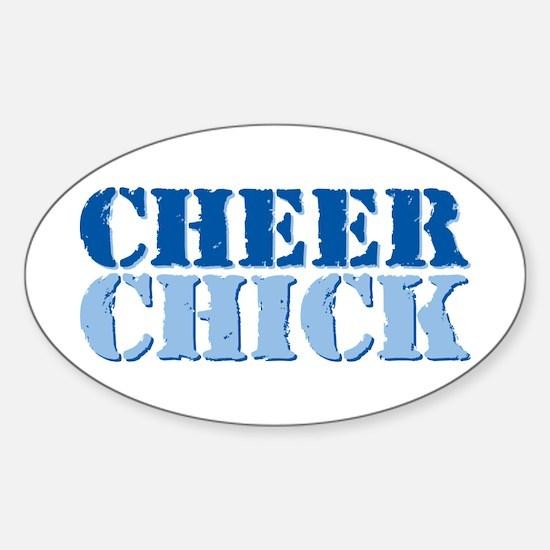 Cheer Chick Sticker (Oval)