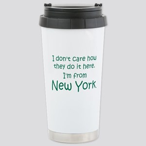 From New York Stainless Steel Travel Mug