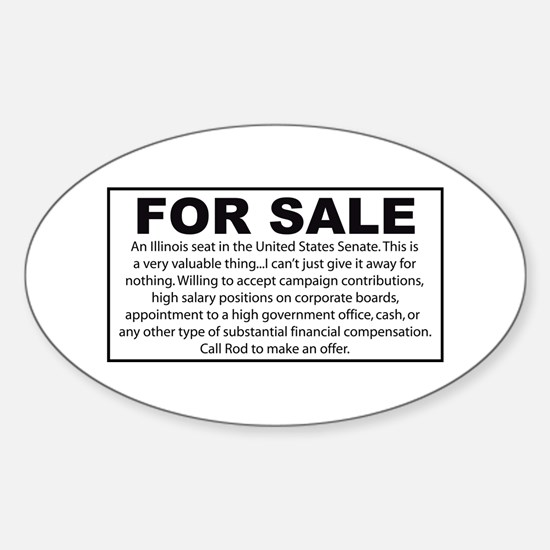 For Sale - Illinois Senate Seat Oval Decal