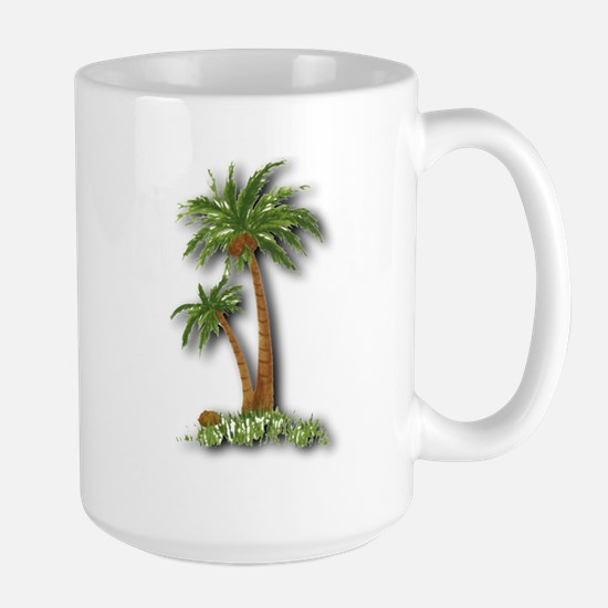 Twin palms Large Mug