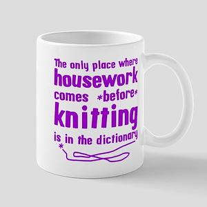 Housework before Knitting Mug