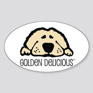 Golden Delicious Oval Sticker
