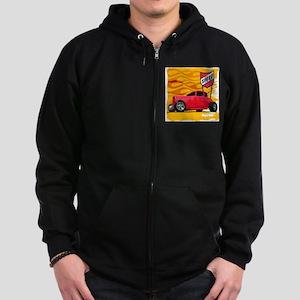 Speed '32 Red Coupe Zip Hoodie (dark)
