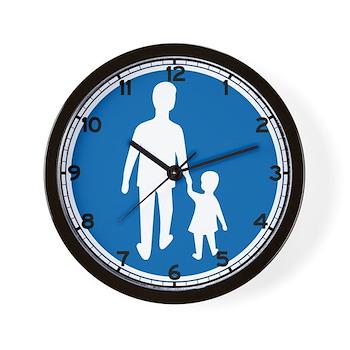 Obligatory Pedestrian Lane, Sweden Wall Clock