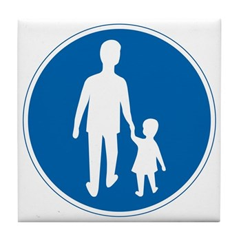 Obligatory Pedestrian Lane, Sweden Tile Coaster