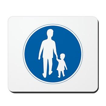 Obligatory Pedestrian Lane, Sweden Mousepad