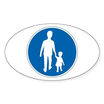 Obligatory Pedestrian Lane, Sweden Oval Sticker