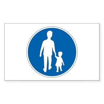 Obligatory Pedestrian Lane, Sweden Sticker (Rectan