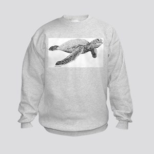 Green Sea Turtle Kids Sweatshirt