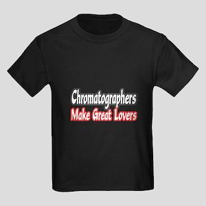 """""""Chromatographers..Lovers"""" Kids Dark T-Shirt"""