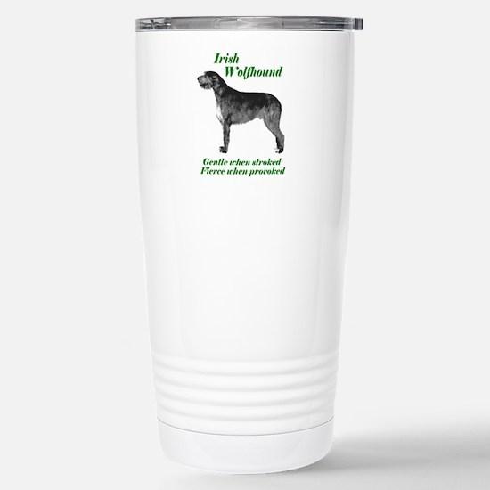 irish Wolfhound Gentle...on Stainless Steel Travel