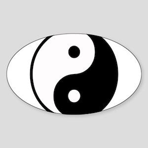 Yin Yang Symbol Oval Sticker