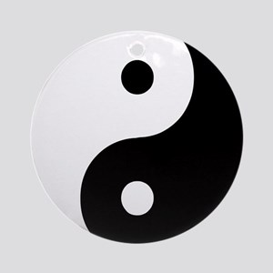 Yin Yang Symbol Ornament (Round)