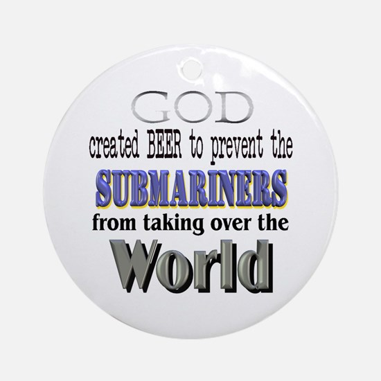 Submariners, God & Beer Ornament (Round)
