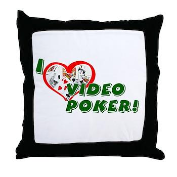 Video Poker Throw Pillow