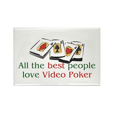 Video Poker Rectangle Magnet (10 pack)