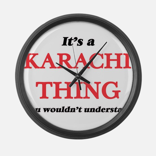 It's a Karachi Pakistan thing Large Wall Clock