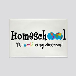 Homeschool...the World is my Rectangle Magnet