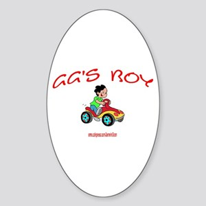 GG'S BOY Oval Sticker