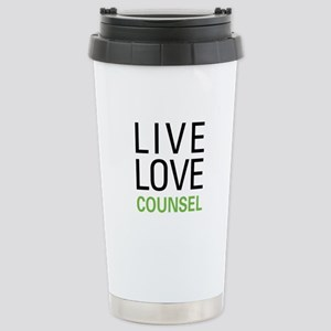 Live Love Counsel Stainless Steel Travel Mug