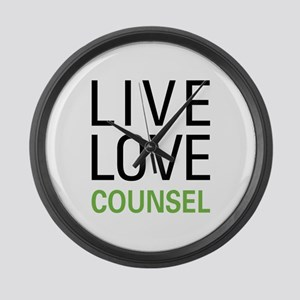 Live Love Counsel Large Wall Clock