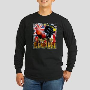 HAWAIIAN HERITAGE ROOSTER Long Sleeve Dark T-Shirt