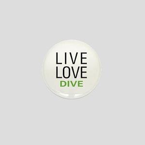 Live Love Dive Mini Button