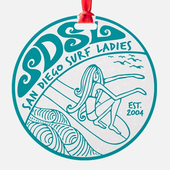 San Diego Surf Ladies Ornament