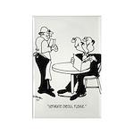 Restaurant Cartoon 4334 Rectangle Magnet