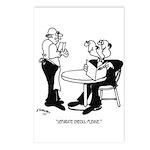 Restaurant Cartoon 4334 Postcards (Package of 8)