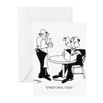 Restaurant Cartoon 4334 Greeting Cards (Pk of 10)