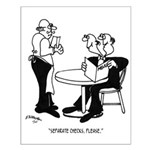 Restaurant Cartoon 4334 Small Poster